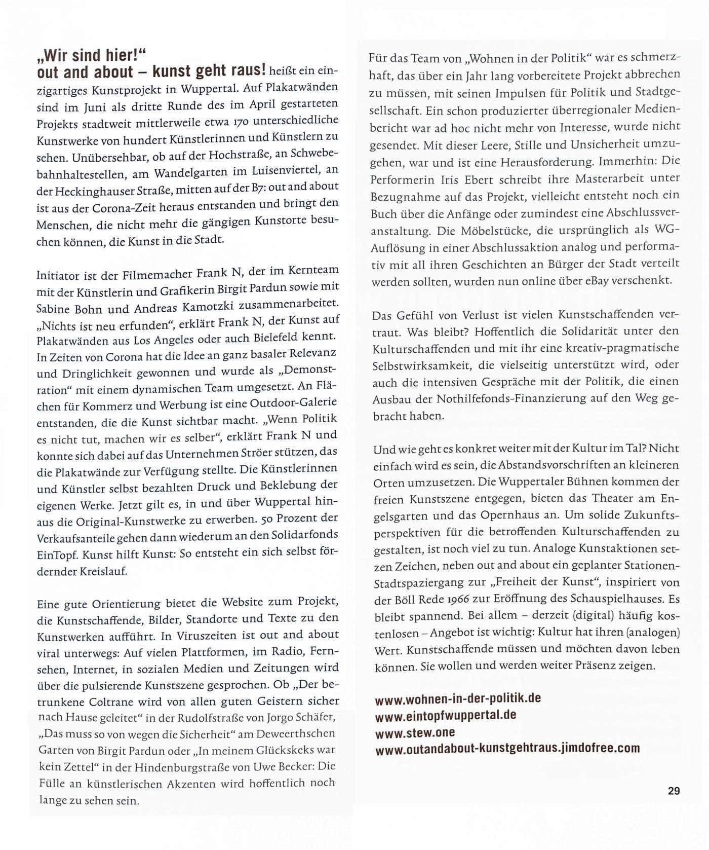 """Auszug aus dem Artikel in """"die beste Zeit"""" Ausgabe 03/2020"""